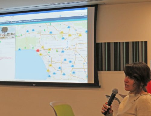 Complete Streets Initiative Manager Madeline Brozen Participates in UCLA's GIS Day 2013 Program