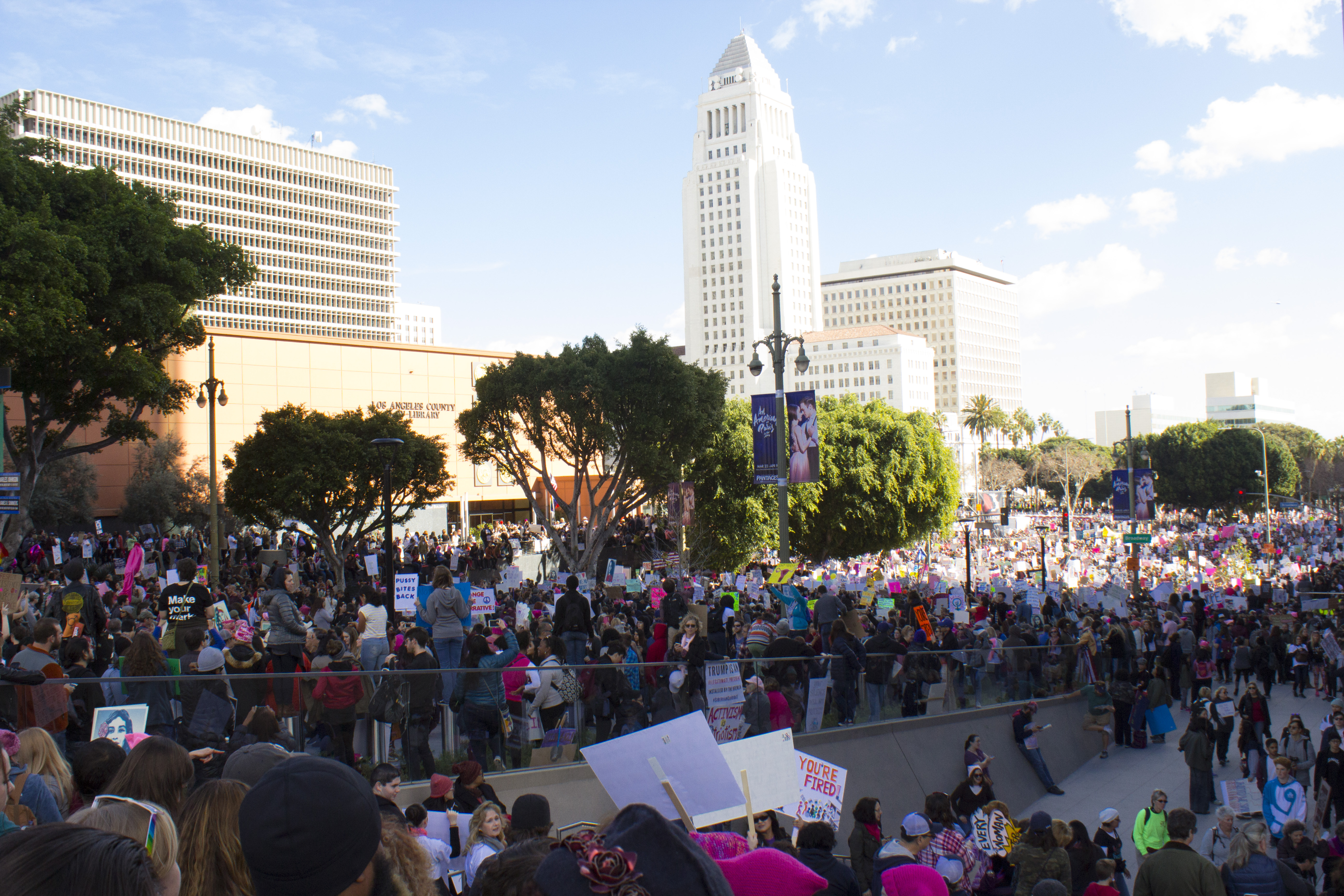 A multimodal guide to the 2018 LA Women's March