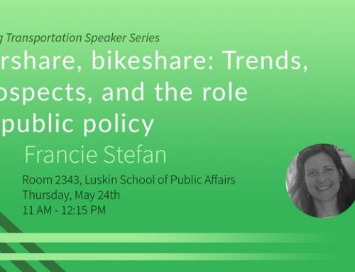 Carshare, bikeshare: Trends, prospects, and the role of public policy – Francie Stefan